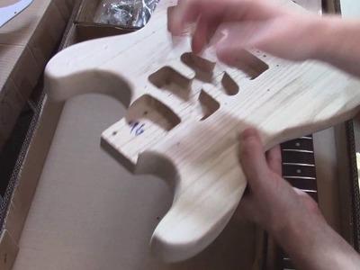 Ebay diy guitar stratocaster build kit review