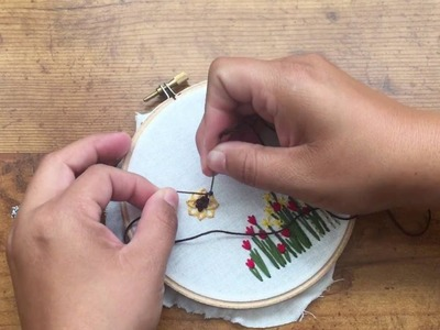 Hand Embroidery: How to Stitch a Sunflower, DIY Tutorial