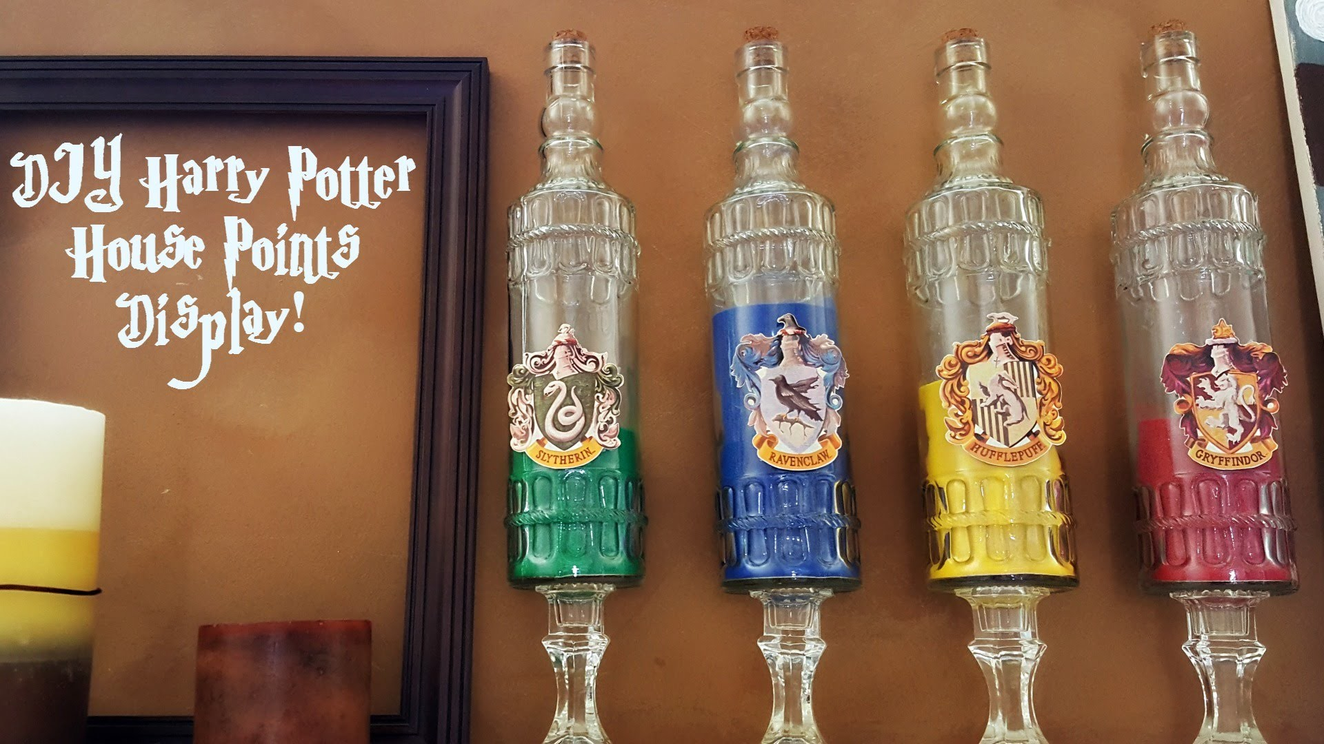 Harry Potter Diy Hogwarts House Points Display My Crafts