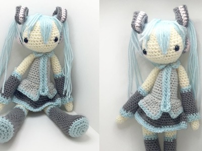 Hatsune Miku Amigurumi Crochet Tutorial Part 5