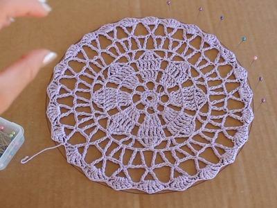 How I Block A Crochet Doily