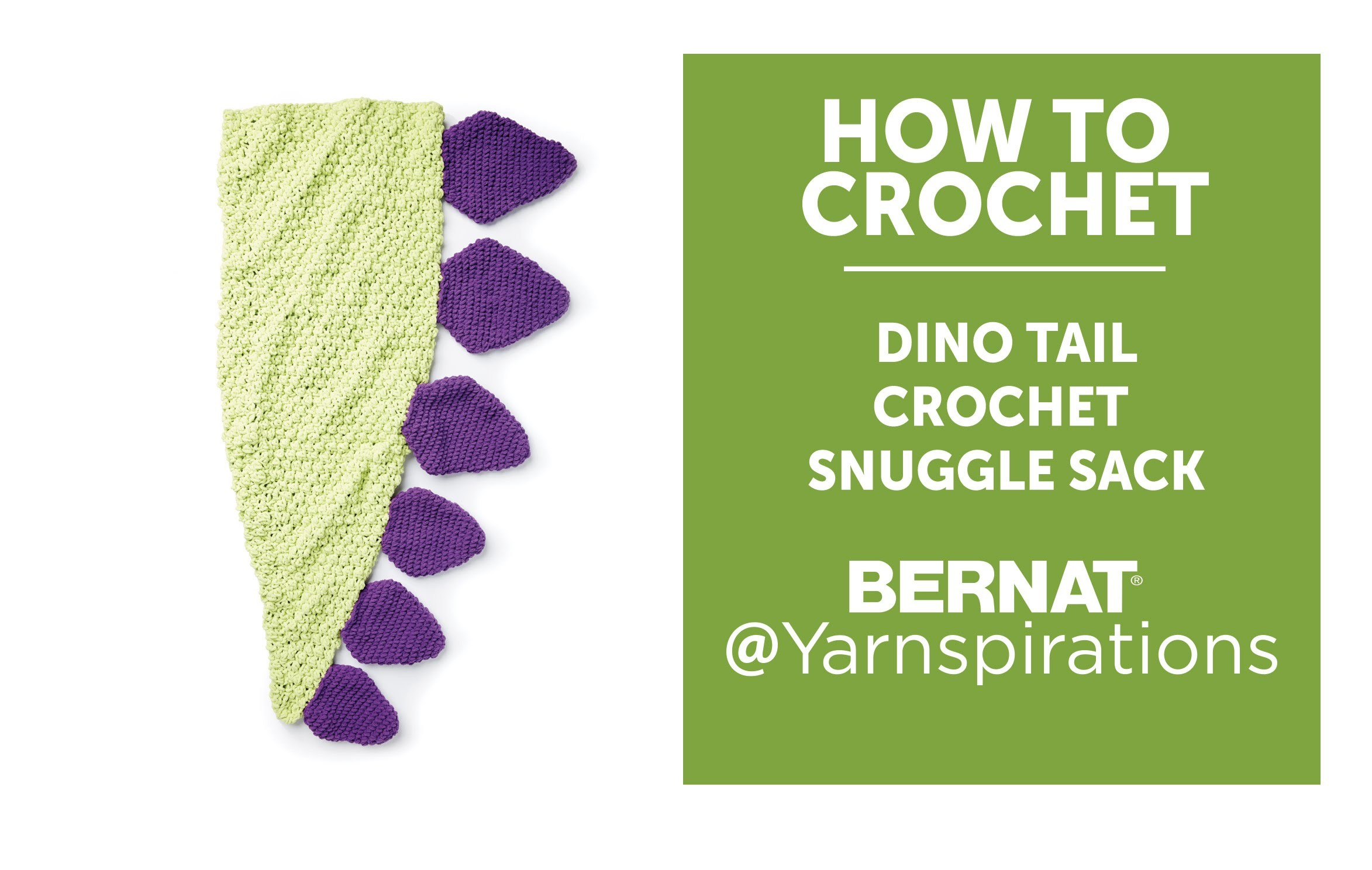 huge discount c8575 f541c How To Crochet a Dinosaur Tail Snuggle Sack