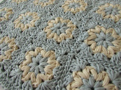 How to crochet a puff stitch granny square blanket. afghan
