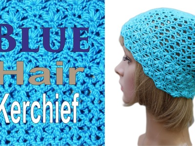 How to crochet Blue Hair Kerchief #crochet #crochetKerchief