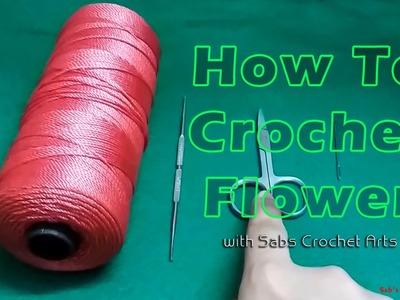 How to Crochet Flower - crochet for beginners