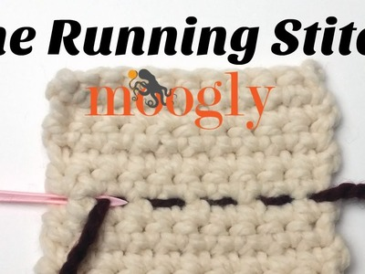 How to Crochet: The Running Stitch - Right Handed