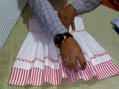 HOW TO CUTTING AND SWEING FANCY BABY FROCK