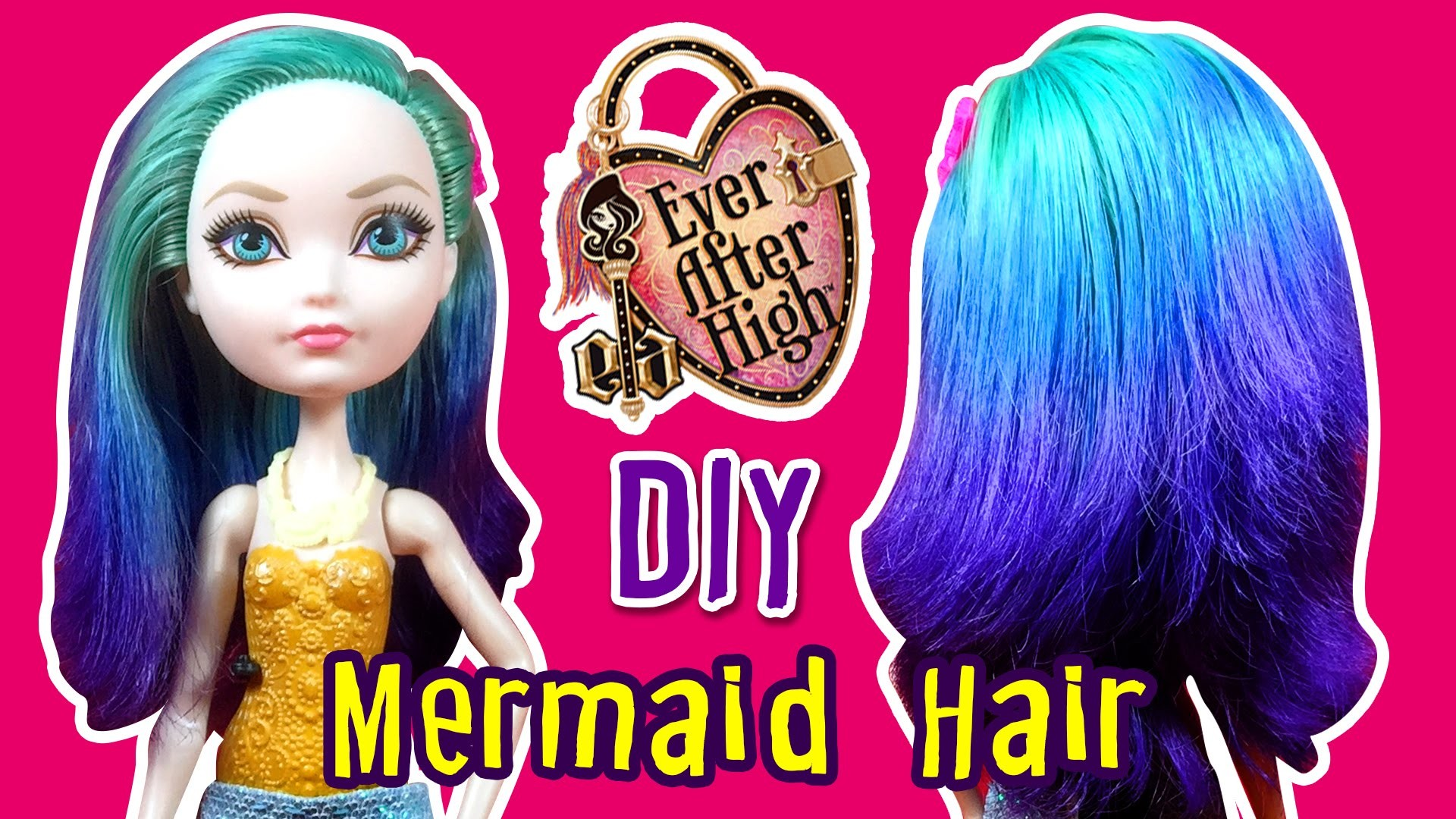 How to DIY Mermaid Ombre Hair Using Doll