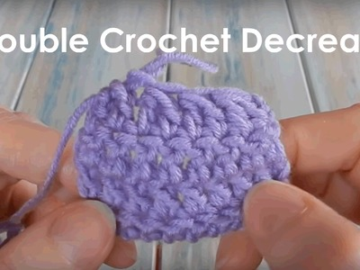 How to Double Crochet Together - Crochet Lesson 9