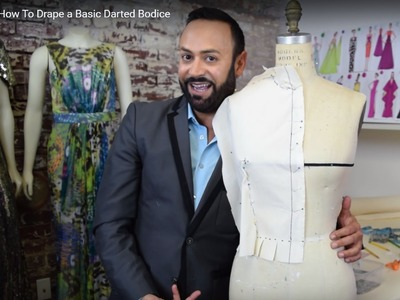 How To Drape a Basic Darted Bodice