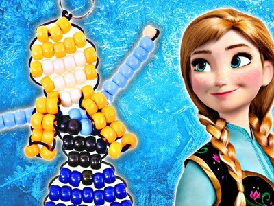 How to Make a Beaded Princess Anna Keychain from Frozen | Disney DIY Crafts on DCTC