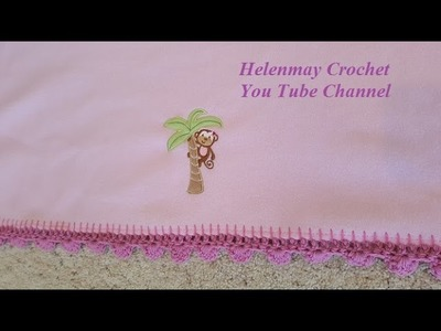How to make a Crochet Shell Border for your Baby Receiving Blanket DIY Tutorial