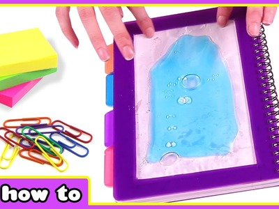 How To Make a Liquid Notebook | Amazing DIY Projects Tutorial by HooplaKidz How To