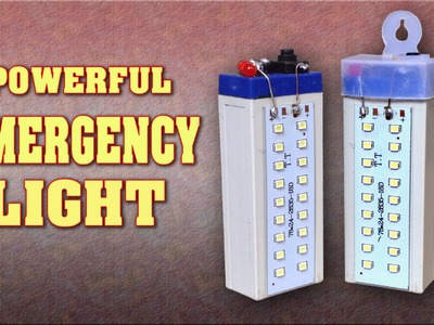 How to make a Powerful Rechargeable LED Emergency Light at home   DIY Homemade LED Light. Lamp