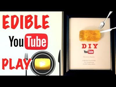 How To Make An Edible YouTube Play Button - Gold Edible Glass DIY