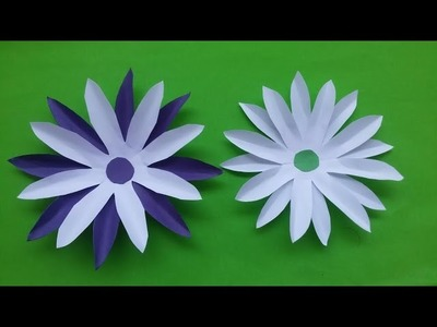 How to make DIY paper flowers (sun flower) video