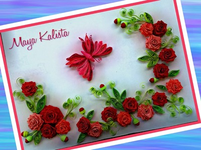 How to make DIY paper quilling Designs -  Rose. Butterfly.Flower designs . Ideas Tutorial!