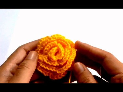 How To Make Flower in Crochet At Home | How To Crochet a Simple Flower | Flower In Crochet 2016