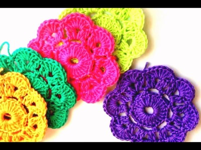 How To Make Flower in Crochet Tutorial | How To Make Easy Crochet Flower Step By Step