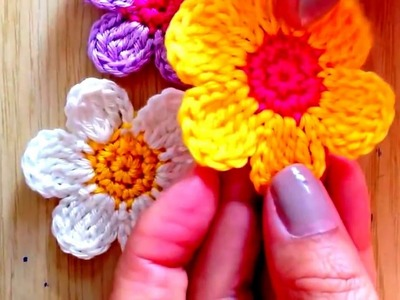 How To Make Flower in Crochet Tutorial | How To Make Easy Crochet Flower | Flower In Crochet