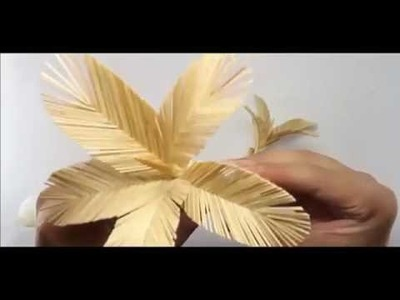 How to make palm tree out of matchsticks