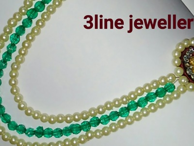 How to make silk thread jewellery.3 line jewellery