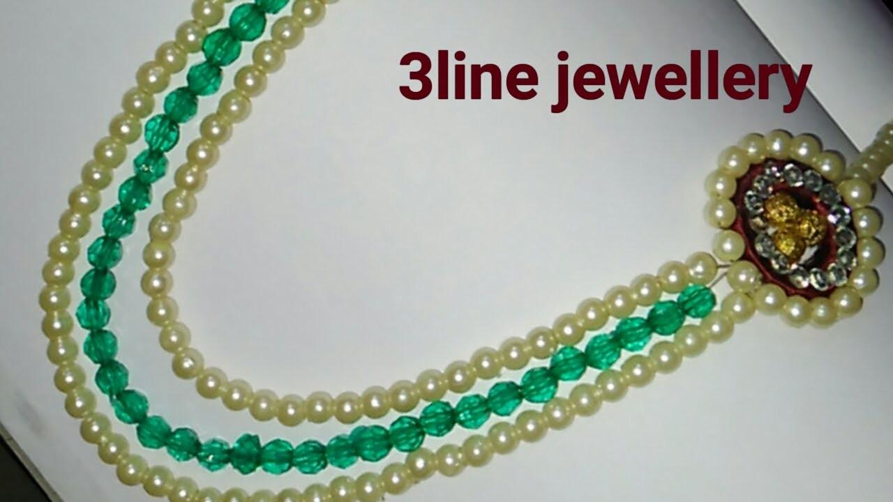 How to make silk thread jewellery.3 line jewellery