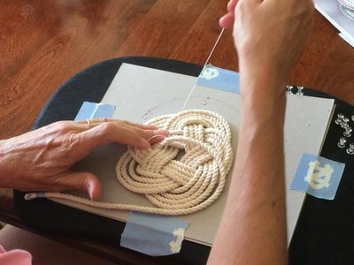 How to Tie Off a Flat Turk's Head for Trivet or Coaster