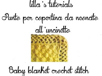 Lilla's tutorials: punto per copertina crochet. baby blanket crochet stitch