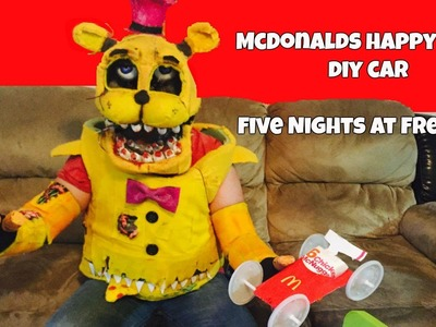 McDonald's Happy Meal DIY CAR.Five Nights at Freddy's FREDBEAR, Foxy, Bonnie, Balloon Boy, Toy Chica
