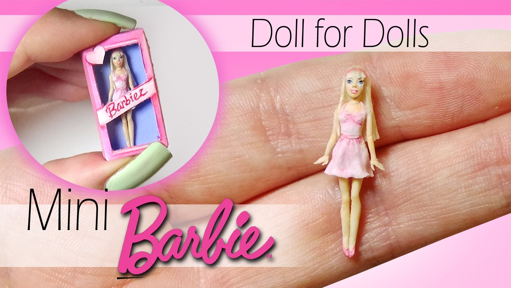 Miniature Barbie Tutorial. DIY Dolls.Dollhouse