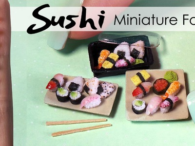 Miniature Sushi Tutorial. DIY Miniature Food
