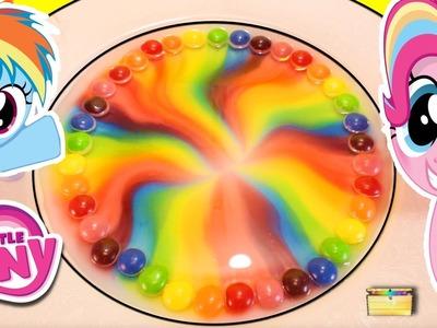 MLP Rainbow Dash DIY SKITTLES RAINBOW with My Little Pony Blind Box Surprise Toys Candy