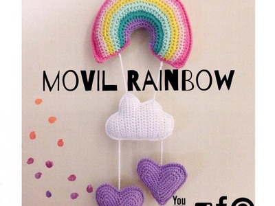 Movil Rainbow tejido al Crochet. Video 1