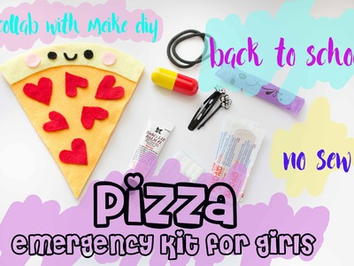 No Sew DIY Pizza Pouch | Back to School Emergency Kit for Girls  [Feat. Meike DIY]