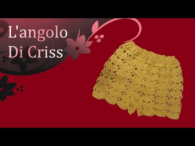 Pantaloncini all'uncinetto - crochet shorts - pantalon corto de ganchillo