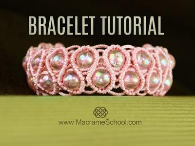 Pearls in Waves - Snaky Bracelet Tutorial in Vintage Style | DIY