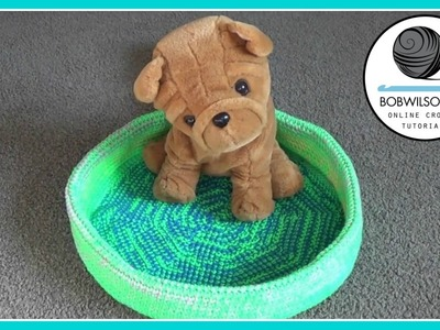 Pet bed crochet tutorial