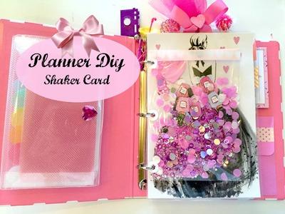 PLANNER DIY | Planner Shaker Card | 2016