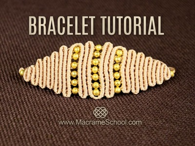 Snaky Rhomb or Eye Bracelet Tutorial in Vintage Style | DIY