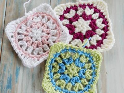 Starburst Granny Square - How to Crochet