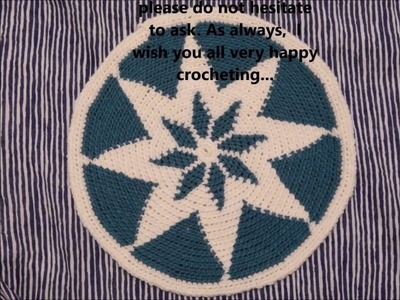 Step-by-Step Snowflake Tapestry Crochet Base - Part 2