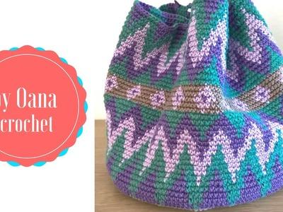 Tapestry crochet. Mochila like  bag- by Oana