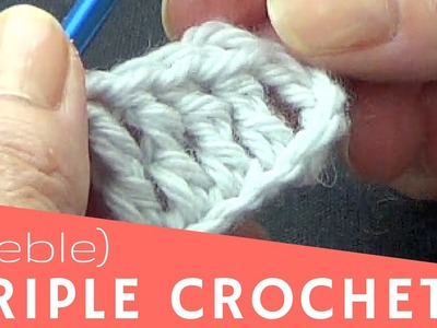 Treble or Tripple Crochet  Basic Crochet Stitches