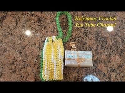 Tunisian Crochet Quick Easy Beginner Tawashi and Soap Saver DIY Tutorial