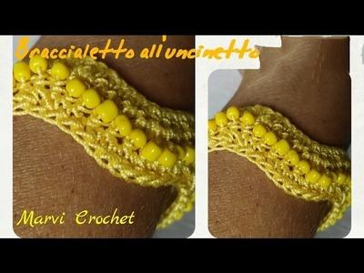 Tutorial bracciale braccialetto all'uncinetto,crochet bracelet