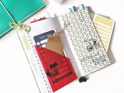 Tutorial | DIY extra pockets for Traveler's Notebook or Planners