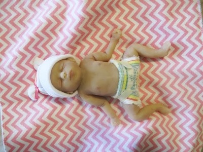 Tutorial: How To Make A Miniature Doll Diaper For Silicone Baby