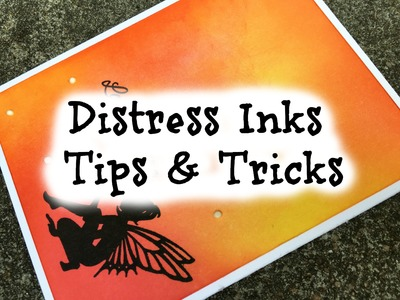 Distress Background How-to - Tips and Tricks