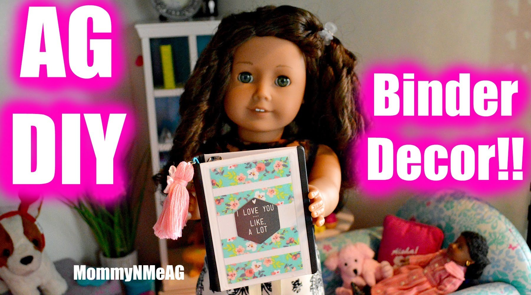 DIY American Girl Doll Binder Decor  |  How to make a mini doll binder covers